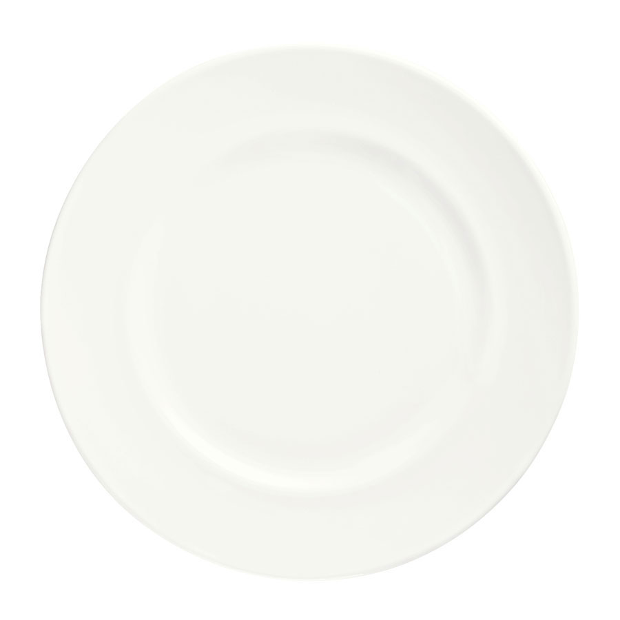 "Syracuse China 905356310 Round Plate w/ Wide Rim, Slenda Pattern & Shape, Royal Rideau Body, 12.25"""