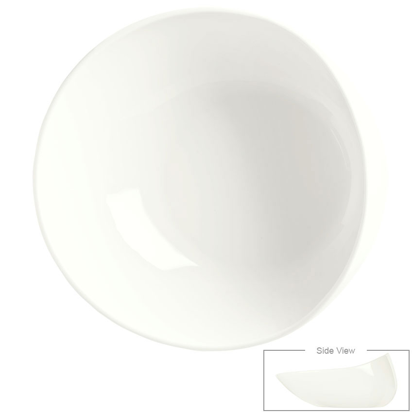 Syracuse China 905356416 47-oz Slenda Verve Round Bowl - Royal Rideau