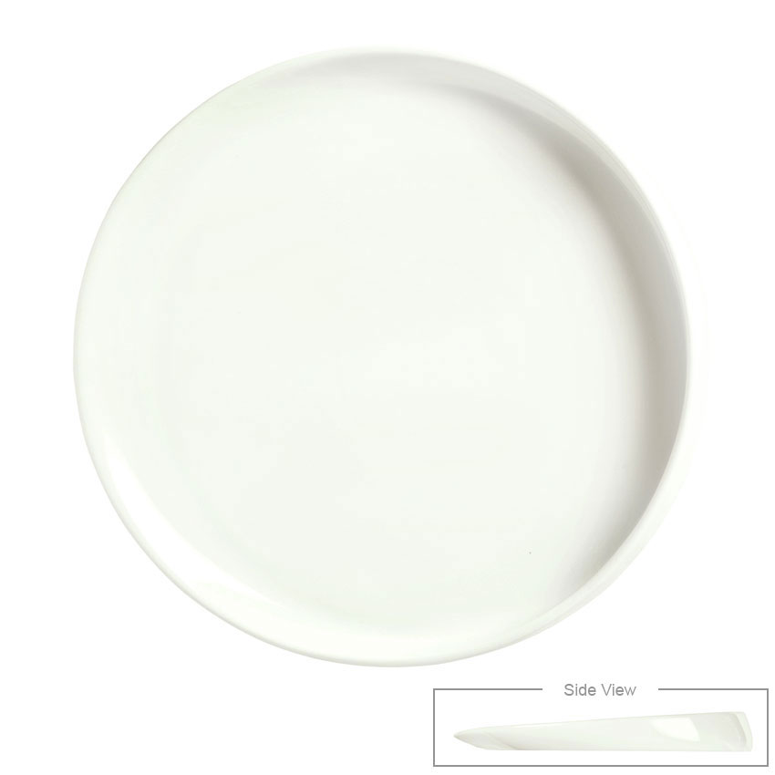 "Syracuse China 905356417 10-1/4"" Slenda Verve Round Plate - Royal Rideau"