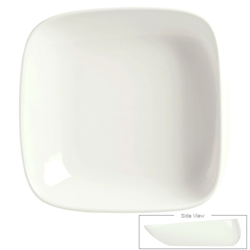 Syracuse China 905356418 17-oz Slenda Verve Square Bowl - Royal Rideau