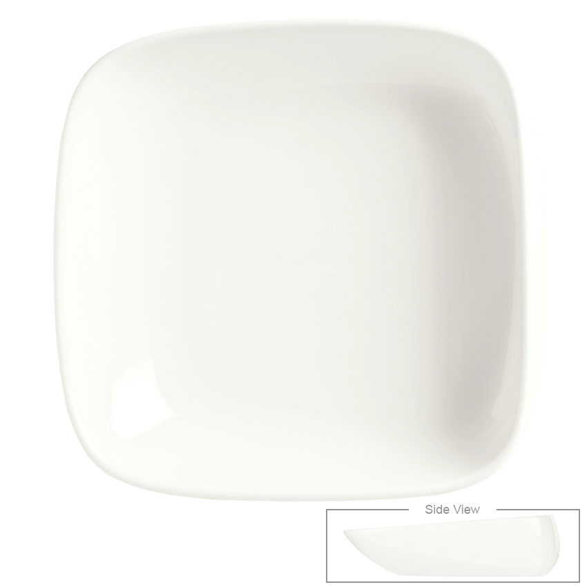 Syracuse China 905356419 31-oz Slenda Verve Square Bowl - Royal Rideau