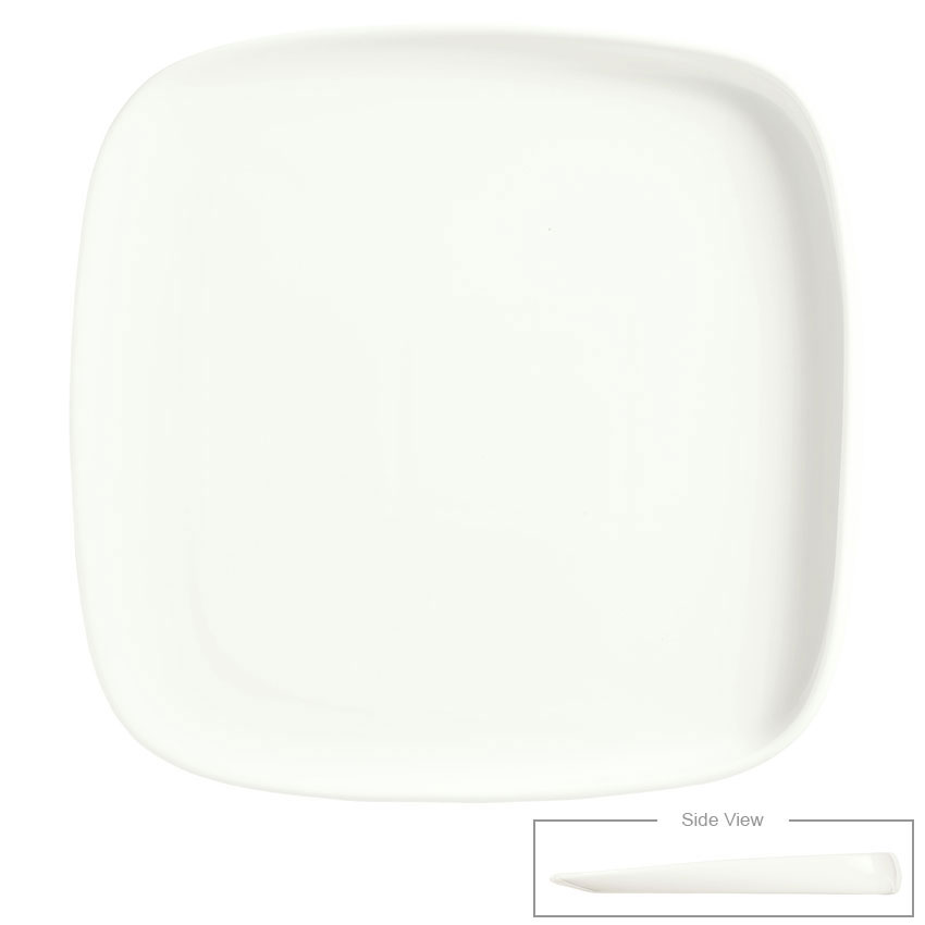 "Syracuse China 905356420 10-1/4"" Slenda Verve Square Plate - Royal Rideau"