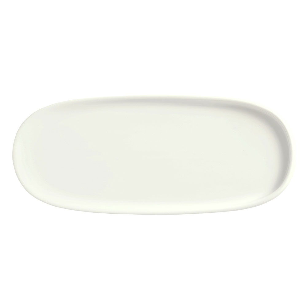 "Syracuse China 905356422 Rectangular Slenda Verve Tray - 9-1/4x3-7/8"" Royal Rideau"