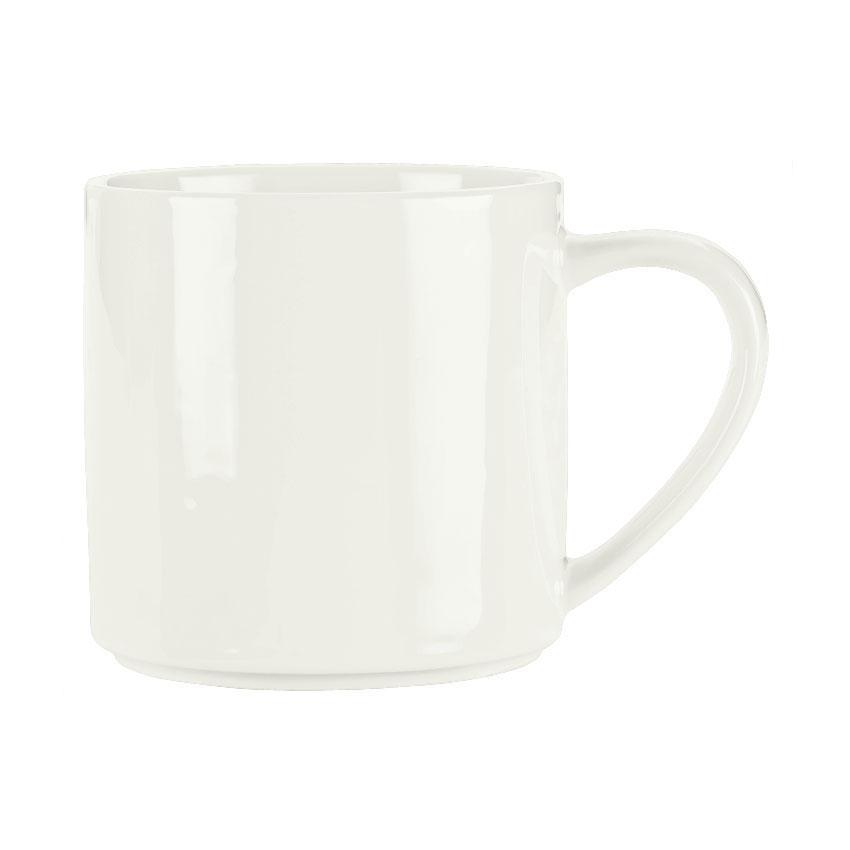 Syracuse China 905356506 12-oz Royal Rideau Mug - Slenda, White