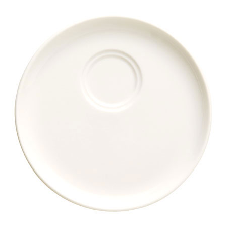 "Syracuse China 905356530 5.25"" Saucer, Double Well w/ Slenda Pattern & Shape, Royal Rideau Body"