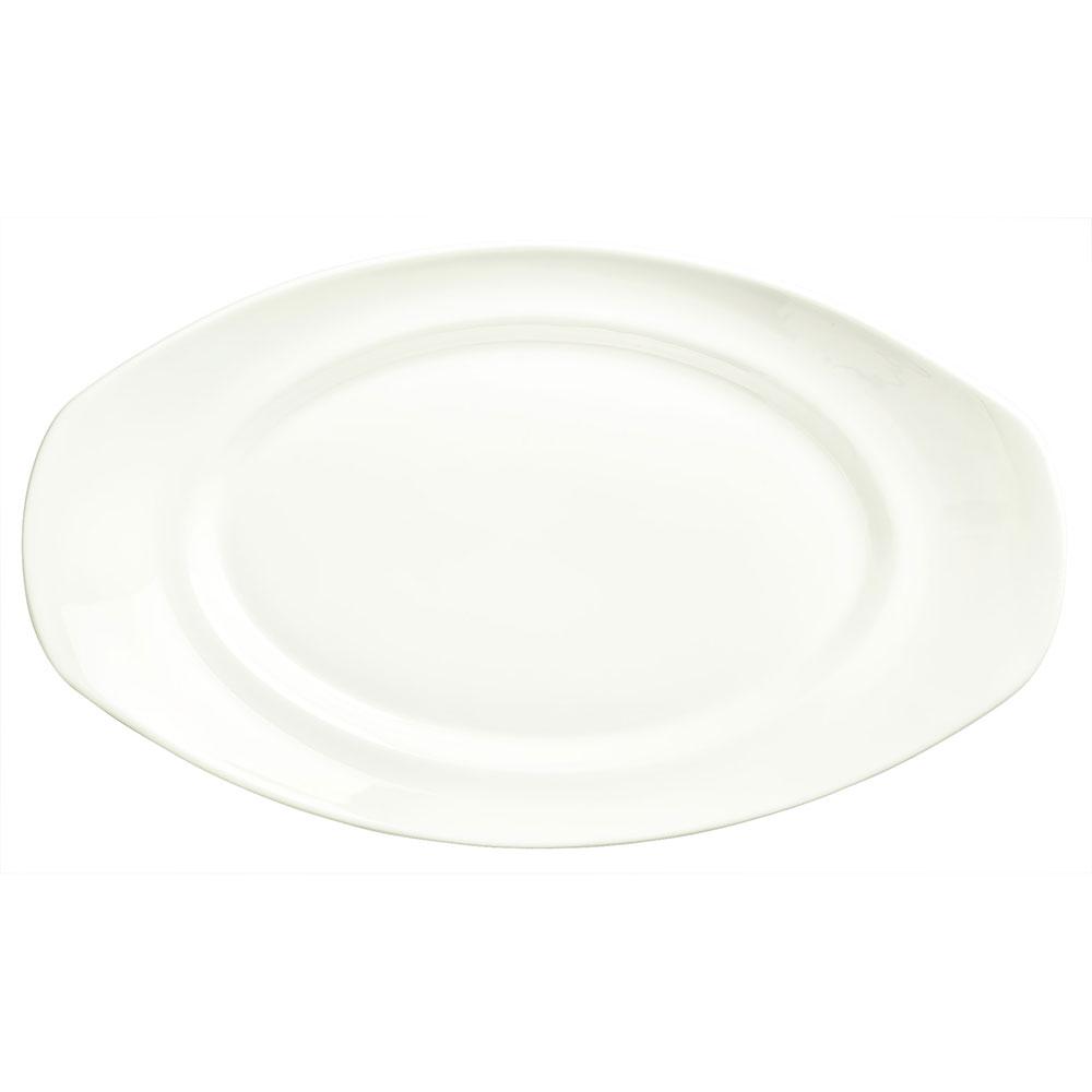 "Syracuse China 905356552 14"" Royal Rideau Platter - Oval, White"