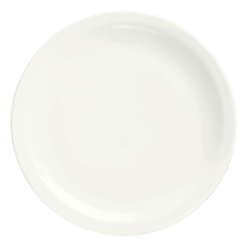 Syracuse China 905356705 Round Footed Plate w/ Narrow Rim, Slenda Pattern & Shape, Royal Rideau, 9-in