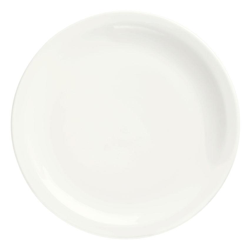 "Syracuse China 905356702 Round Plate w/ Narrow Rim, Slenda Pattern & Shape, Royal Rideau Body, 6.37"""