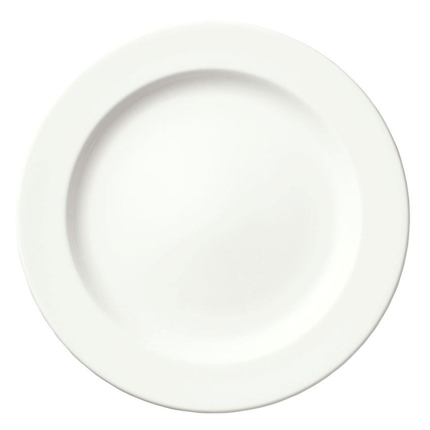 """Syracuse China 905356830 12"""" Slenda Plate - Royal Rideau, White"""