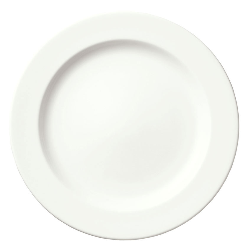"Syracuse China 905356836 7-1/4"" Slenda Plate - Royal Rideau, White"