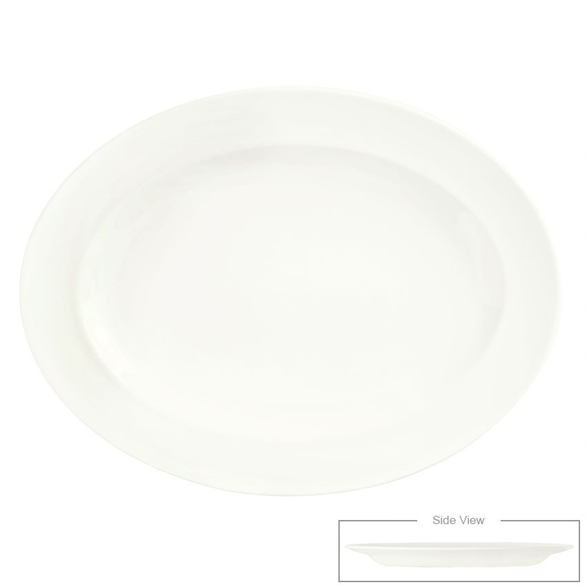 "Syracuse China 905356837 11.5"" Platter w/ Slenda Pattern & Shape, Royal Rideau Body"