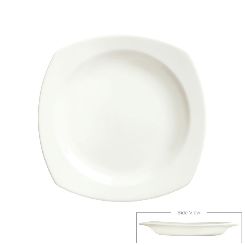 Syracuse China 905356896 11.5-in Square All Purpose Bowl w/ Slenda Pattern & Shape, Royal Rideau Body