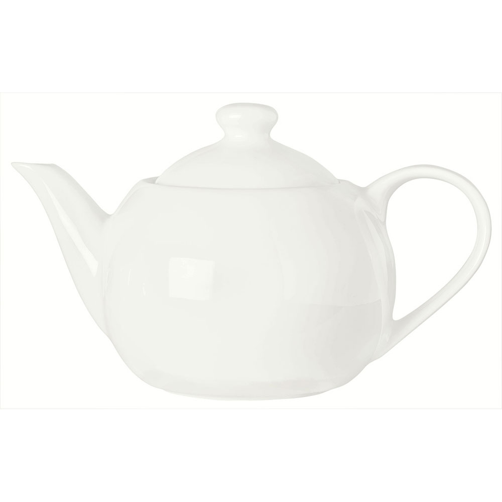 Syracuse China 905356903 14-oz Royal Rideau Tea Pot - Knob Lid, Loop Handle, White
