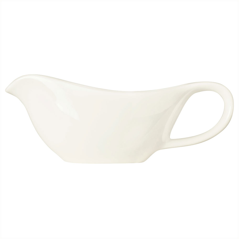 Syracuse China 905356905 3-oz Royal Rideau Sauce Boat - Glazed, Loop Handle, White