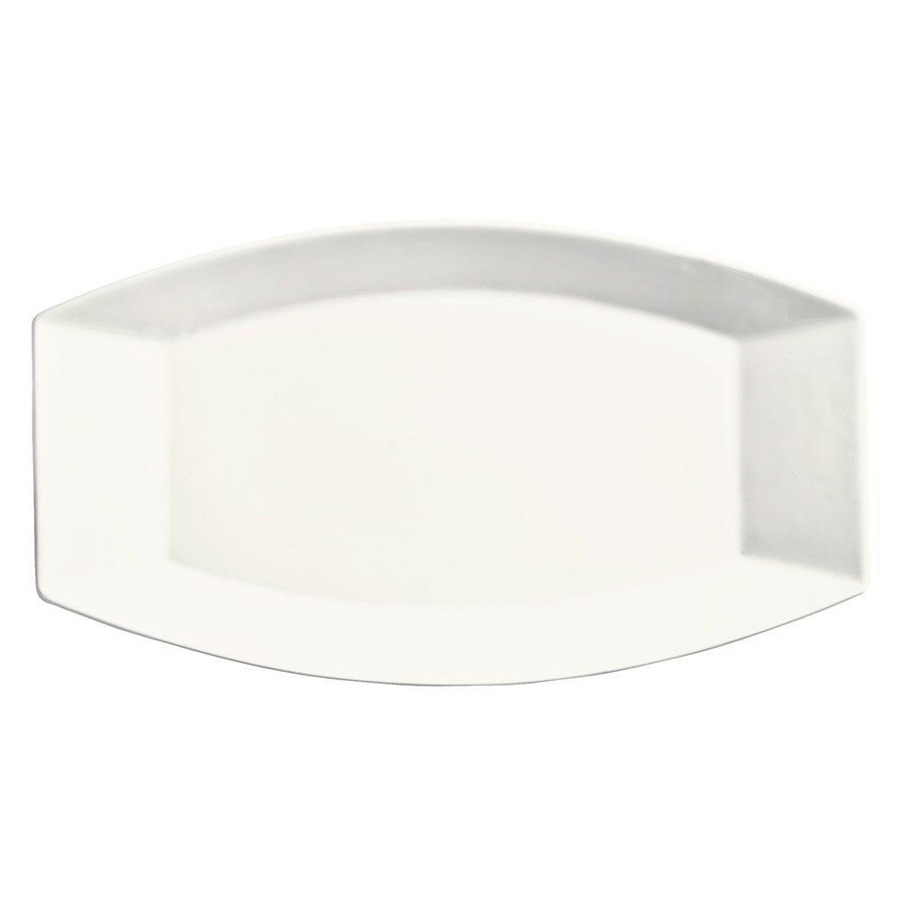 "Syracuse China 905356909 12"" Royal Rideau Platter - Oblong, Glazed, White"