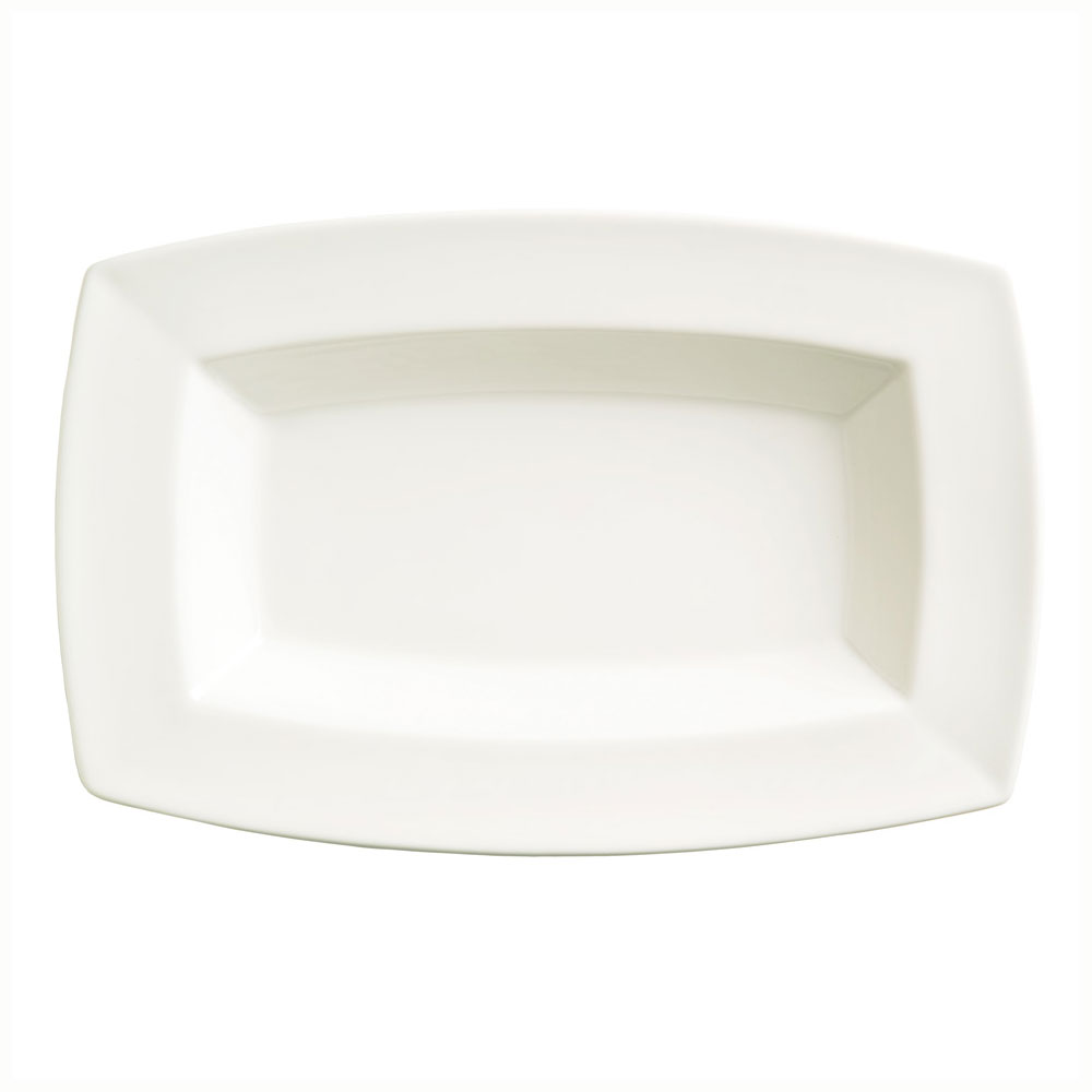 Syracuse China 905356952 32-oz Rectangular Bowl w/ Slenda Pattern & Shape, Royal Rideau Body