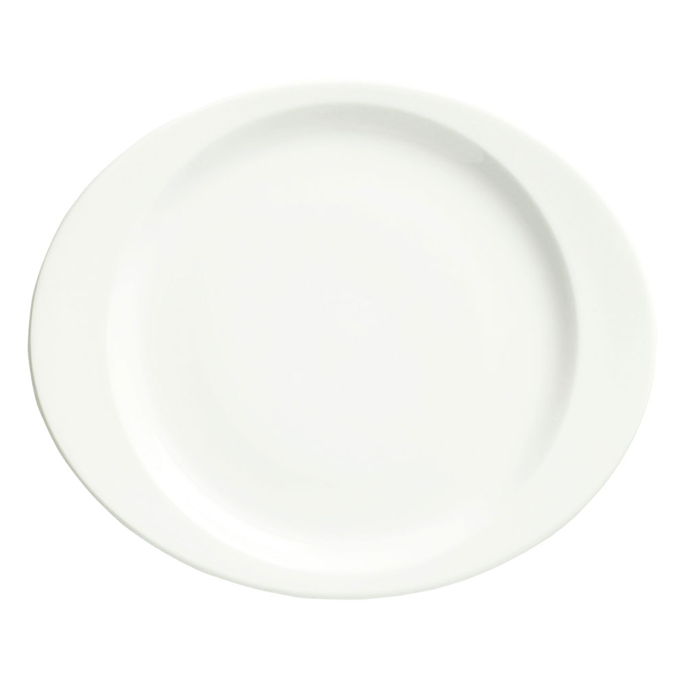Syracuse China 905356953 11.12-in Plate w/ Slenda Pattern & Shape, Royal Rideau Body