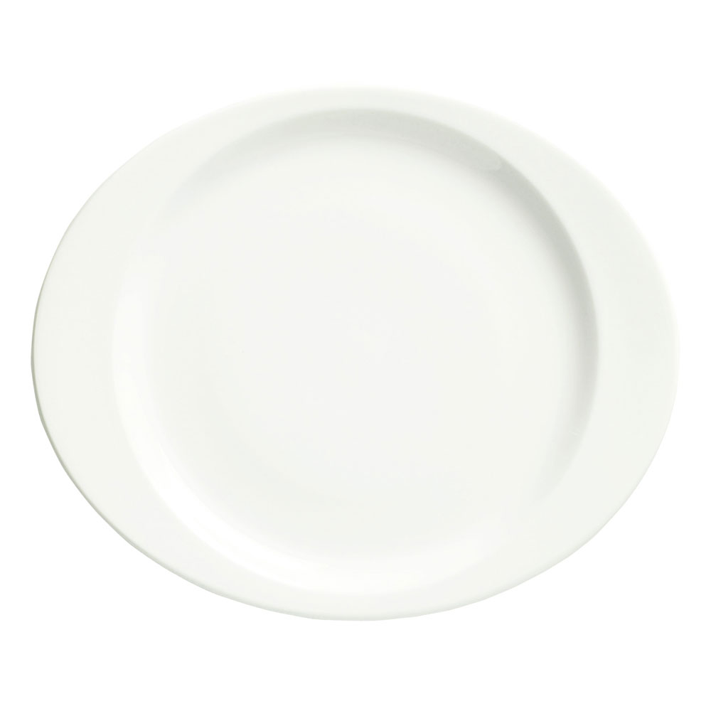 Syracuse China 905356955 12-in Plate w/ Slenda Pattern & Shape, Royal Rideau Body