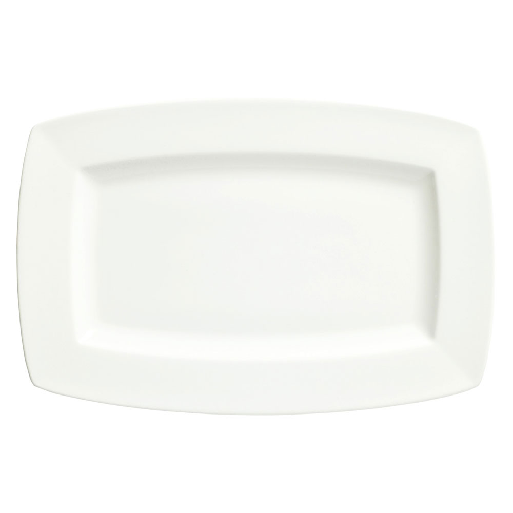 Syracuse China 905356956 12-in Rectangular Plate w/ Slenda Pattern & Shape, Royal Rideau Body