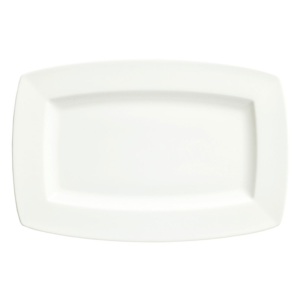 "Syracuse China 905356957 10"" Rectangular Plate w/ Slenda Pattern & Shape, Royal Rideau Body"