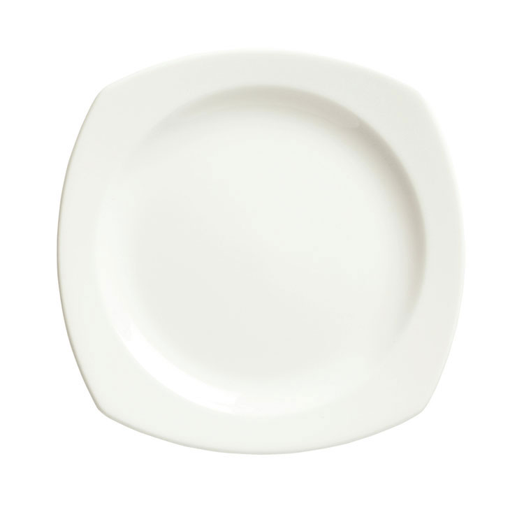 Syracuse China 905356975 10.25-in Square Plate w/ Slenda Pattern & Shape, Royal Rideau Body