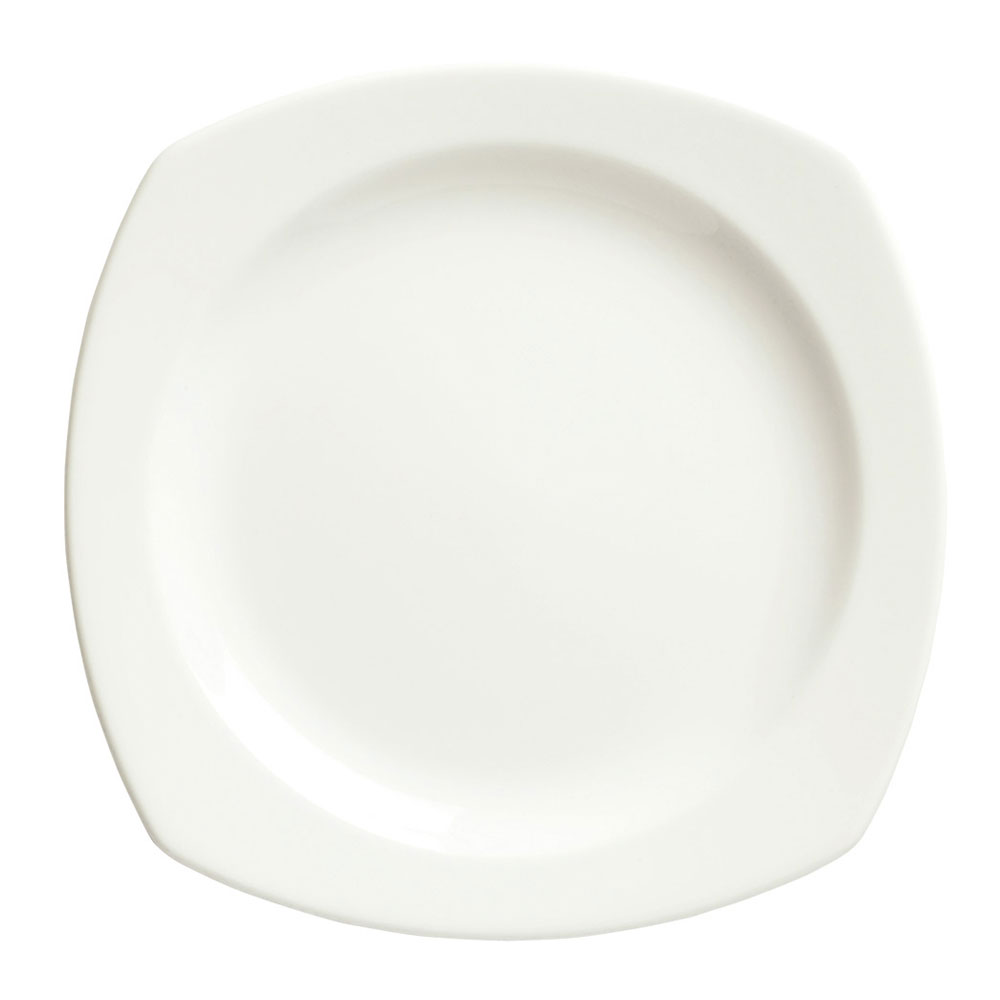"Syracuse China 905356976 9"" Square Plate w/ Slenda Pattern & Shape, Royal Rideau Body"