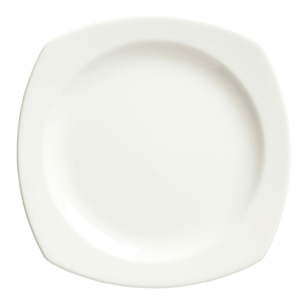 "Syracuse China 905356977 7.25"" Square Plate w/ Slenda Pattern & Shape, Royal Rideau Body"
