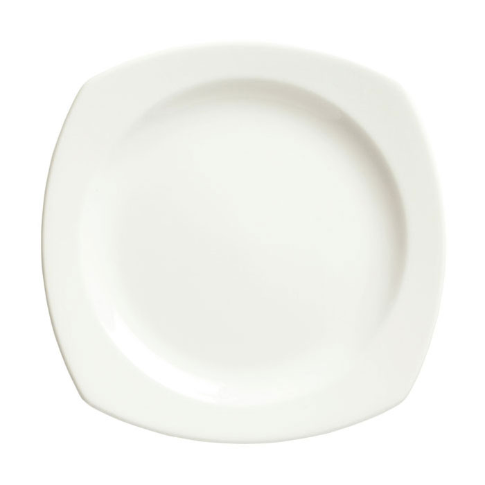 Syracuse China 905356978 6.25-in Square Plate w/ Slenda Pattern & Shape, Royal Rideau Body