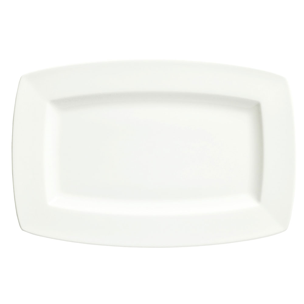 Syracuse China 905356987 13.5-in Rectangular Plate w/ Slenda Pattern & Shape, Royal Rideau Body