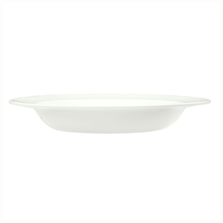 Syracuse China 905437881 14-oz Soup Bowl w/ Elan Pattern & Medium Rim, Flat, Royal Rideau Body