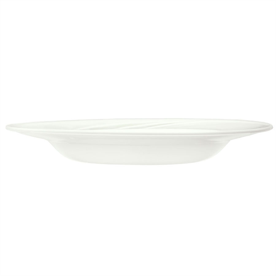 Syracuse China 905437885 18.5-oz Flat EntrÒe Pasta Bowl w/ Medium Rim & Elan Pattern, Royal Rideau Body