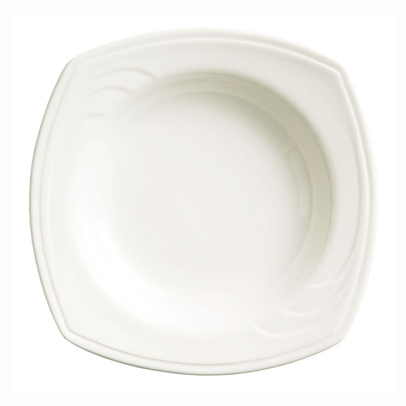 Syracuse China 905437890 14-oz Square Soup Bowl w/ Elan Pattern & Royal Rideau Body