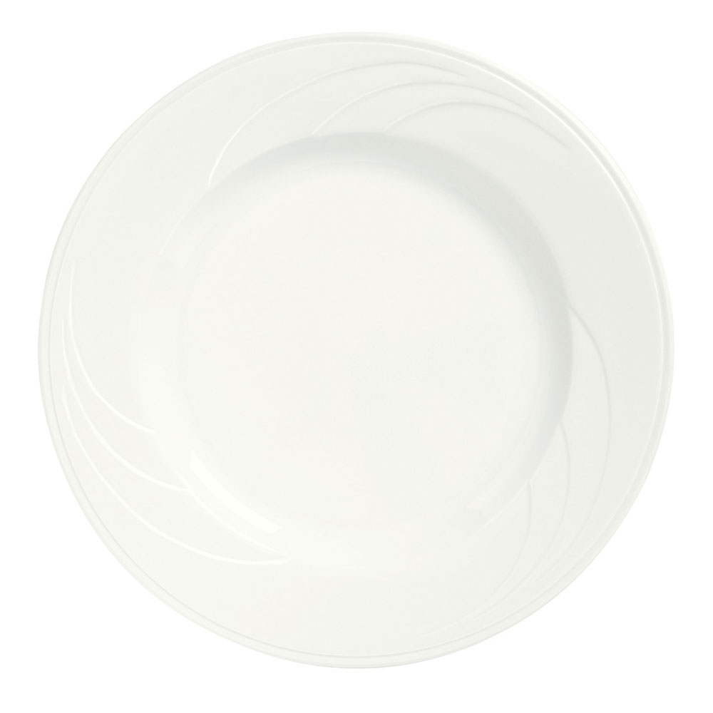 "Syracuse China 905437986 9.12"" Plate w/ Elan Pattern & Royal Rideau Body"