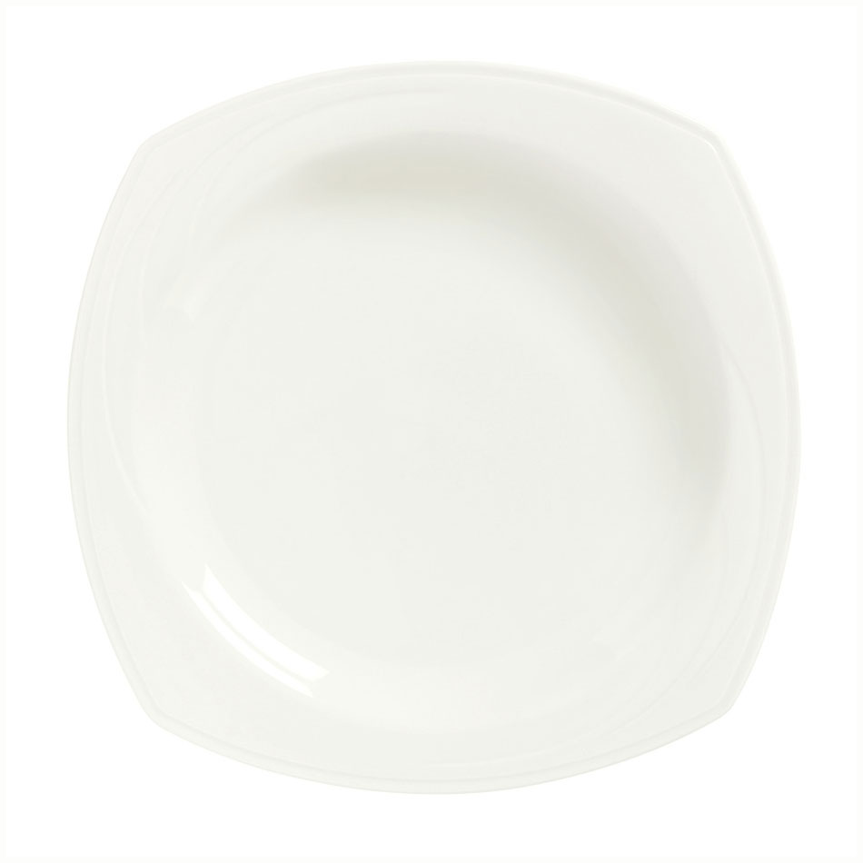 Syracuse China 905437996 11.5-in Square All Purpose Bowl w/ Elan Pattern & Royal Rideau Body