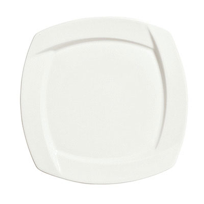 Syracuse China 905482904 10.75-in Square Plate w/ Tangular Pattern & Shape, Thin, Royal Rideau Body