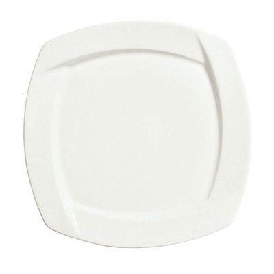 Syracuse China 905482905 7.12-in Square Plate w/ Tangular Pattern & Shape, Thin, Royal Rideau Body