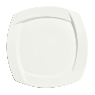 Syracuse China 905482906 6.25-in Square Plate w/ Tangular Pattern & Shape, Thin, Royal Rideau Body