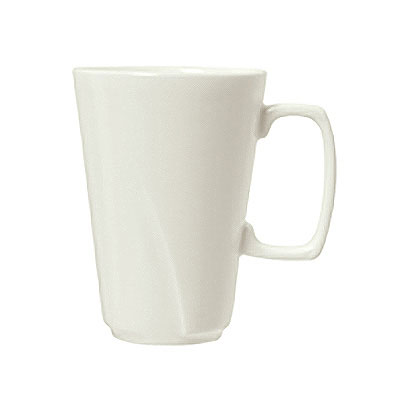Syracuse China 905482924 10.5-oz Tall Mug w/ Tangular Pattern & Shape, Royal Rideau Body, White