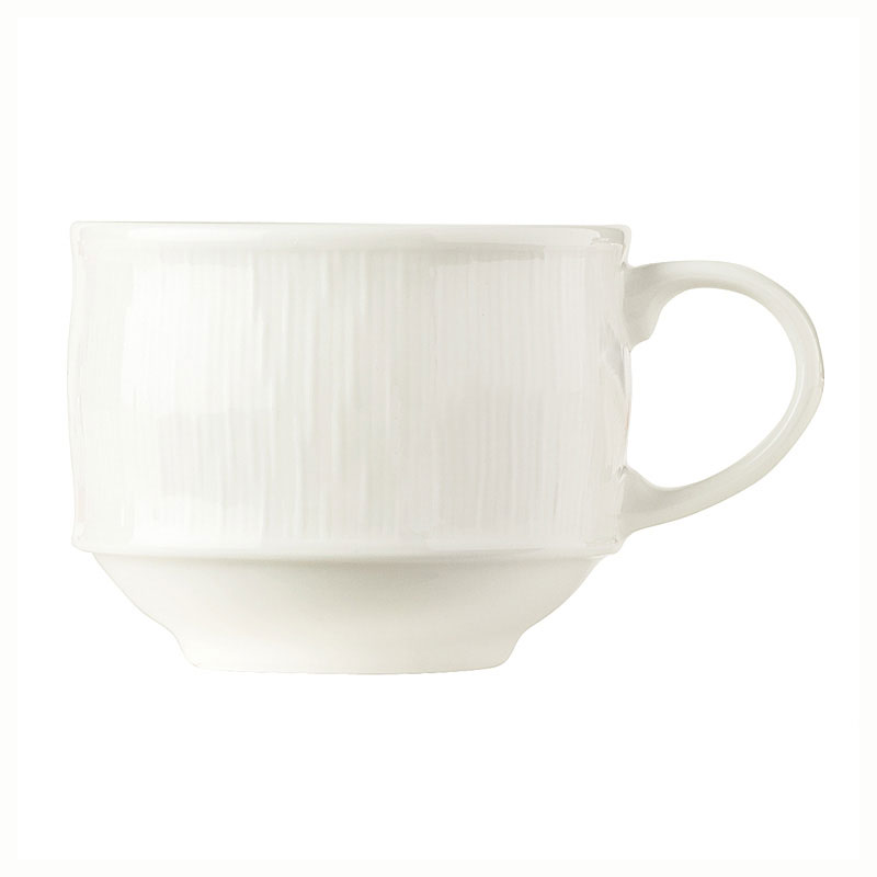 Syracuse China 909089713 Stackable Cup, Fully Vitrified, Under Ring & Royal Rideau Body, Glazed, 4.75""