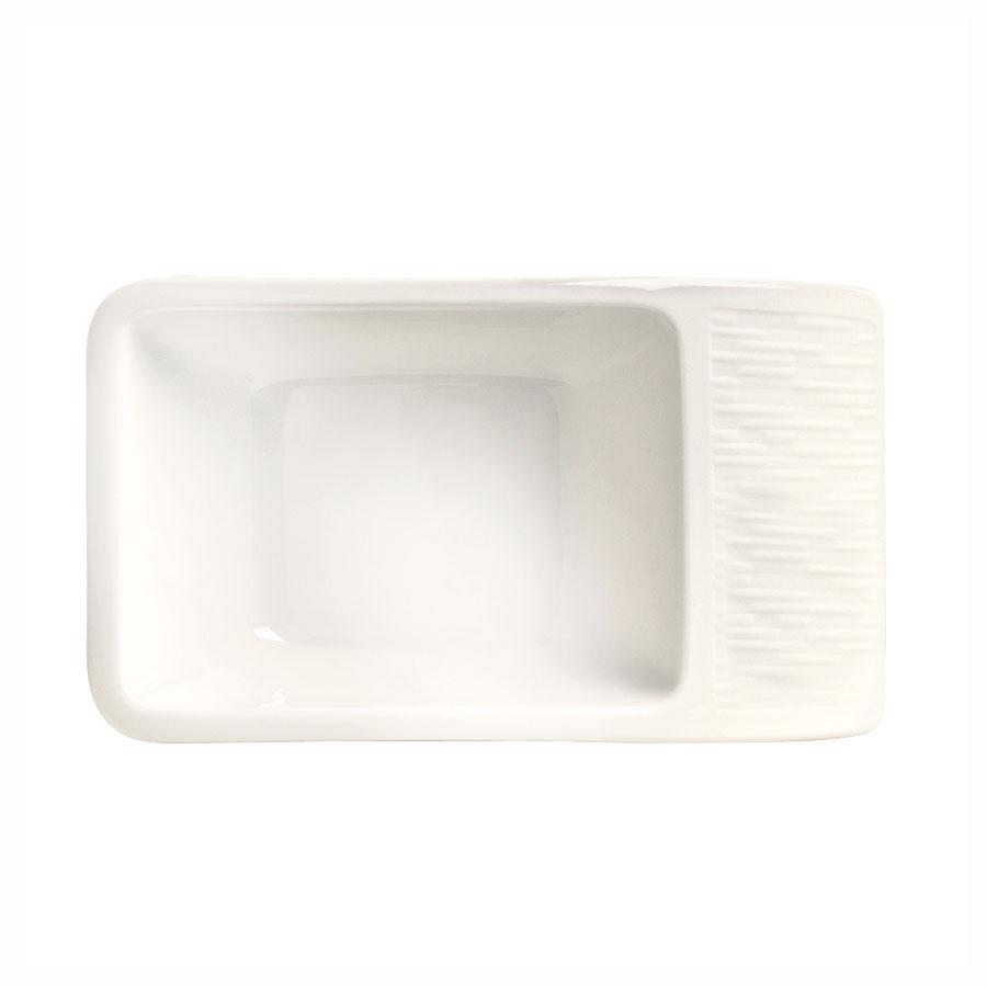 "Syracuse China 909089725 1-1/2"" Royal Rideau Sugar Packet Holder - Handle, Solario, White"