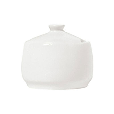 Syracuse China 911190010 10-oz Sugar Pot w/ Lid, International Pattern & Shape, White Bone China Body