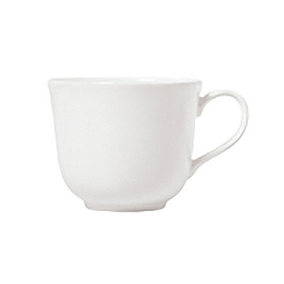 Syracuse China 911190011 6-oz Tea Cup w/ International Pattern & Shape, Ultra White Bone China Body