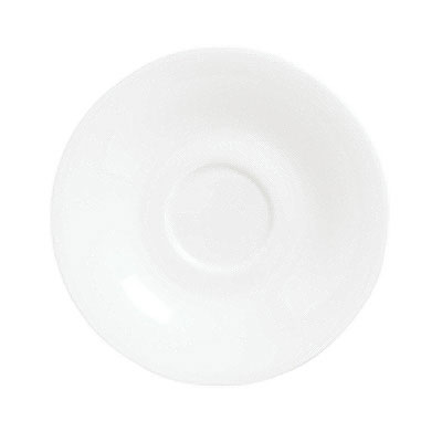 Syracuse China 911190012 6-in Saucer w/ International Pattern & Shape, Ultra White Bone China Body