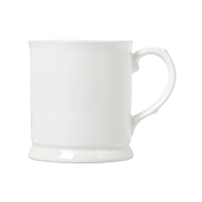 Syracuse China 911190013 9.75-oz Mug w/ International Pattern & Shape, Ultra White Bone China Body