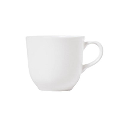 Syracuse China 911190016 4-oz AD Coffee Cup w/ International Pattern & Shape, Ultra White Bone China Body