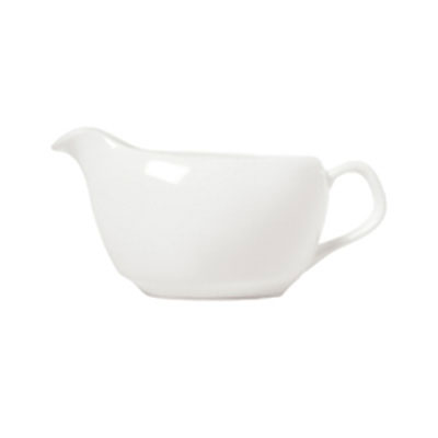 Syracuse China 911190022 14-oz Sauce Boat w/ International Pattern & Shape, Ultra White Bone China Body
