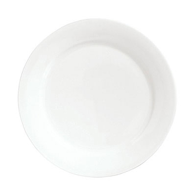 Syracuse China 911190025 11.37-in Dinner Plate w/ International Pattern & Shape, Ultra White Bone China