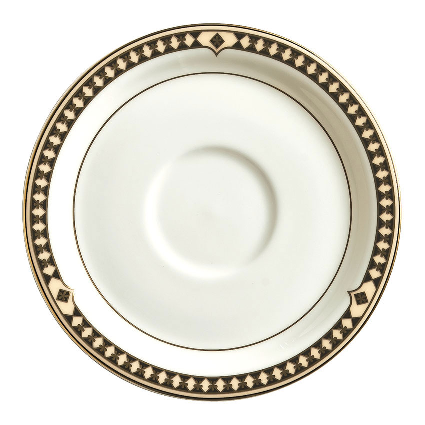 Syracuse China 911191012 6-oz Saucer w/ Baroque Pattern & International Shape, Bone China Body