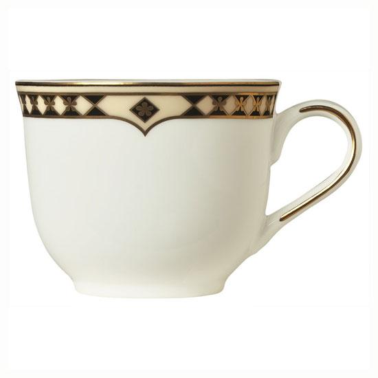 Syracuse China 911191016 4-oz Coffee Cup w/ Baroque Pattern & International Shape, Bone China Body
