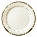 "Syracuse China 911191025 11.37"" Dinner Plate w/ Baroque Pattern & International Shape, Bone China Body"